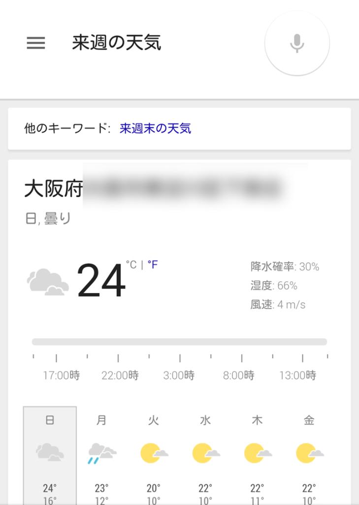 天気の表示