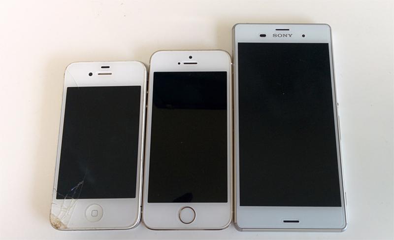 歴代iphoneとXperia
